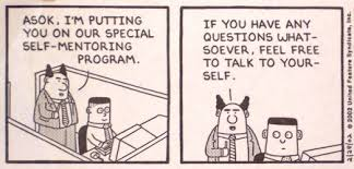 Dilbert Comic: Self Mentoring